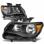 15-19 Chevy Colorado Replacement Crystal Headlights - Black / Amber
