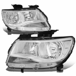 15-19 Chevy Colorado Replacement Crystal Headlights - Chrome / Amber