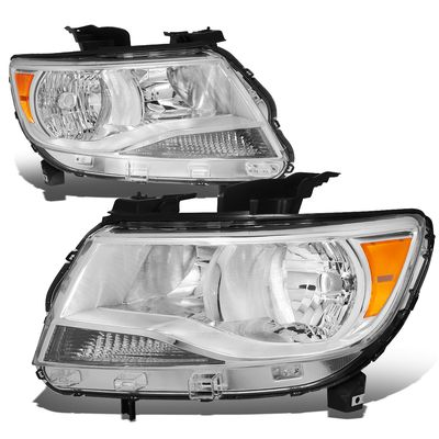 15-17 Chevy Colorado Replacement Crystal Headlights - Chrome / Amber