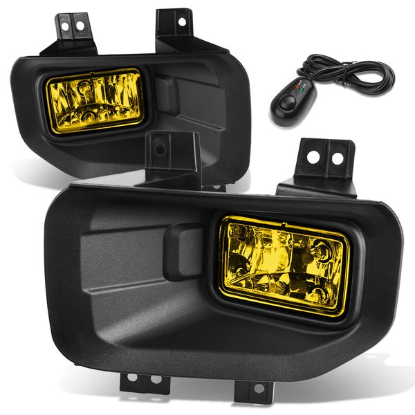 15-17 Ford F-150 13th Gen Pair of Bumper Driving Fog Lights + Switch (Amber Lens)