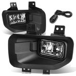 15-17 Ford F-150 13th Gen Pair of Bumper Driving Fog Lights + Switch (Clear Lens)