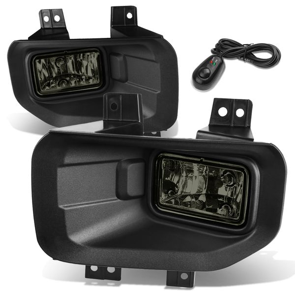 15-17 Ford F-150 13th Gen Pair of Bumper Driving Fog Lights + Switch (Smoke Lens)