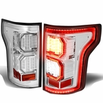 15-17 Ford F-150 [3D LED PYRO Tube] Tail Lights - Chrome