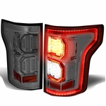 15-17 Ford F-150 [3D LED PYRO Tube] Tail Lights - Smoked