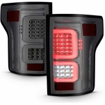 15-17 Ford F150 Optic-Style LED Tail Lights - Smoked 03-FF15TLEDSMG3