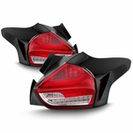 15-17 Ford Focus Hatchback Sequential LED Tail Lights - Red