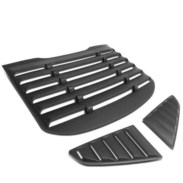 15-17 Ford Mustang Coupe ABS Vintage Style Rear+Quarter Side Window Louvers