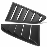 15-17 Ford Mustang Coupe Pair Vintage Style Rear Quarter Side Window Louvers