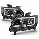 15-19 Chevy Colorado LED C-Tube Projector Headlights - Black
