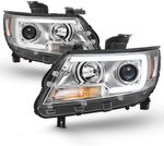15-19 Chevy Colorado LED C-Tube Projector Headlights - Chrome