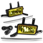 15-18 Chevy Tahoe/Suburban Amber Lens Chrome Cover Fog Light+Switch+Harness