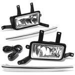15-18 Chevy Tahoe/Suburban Clear Lens Chrome Cover Fog Light+Switch+Harness