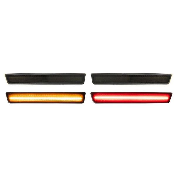 15-18 Dodge Challenger LED SMD Front & Rear Side Marker / Turn Signal - Smoked