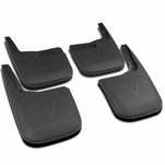15-18 Ford F150 F-150 w/o Fender Flares ABS Front & Rear Mud Flaps Splash Guards