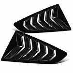 15-18 Ford Mustang Glossy Black 1/4 Quarter Side Vent Window Scoop Louver