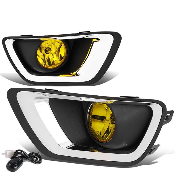 15-19 Chevy Colorado Amber Lens OE Front Front Fog Light w/Chrome Trim