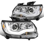 15-20 Chevy Colorado Projector Headlights LED DRL Tube - Chrome