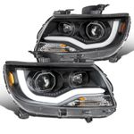 15-20 Chevy Colorado Projector Headlights LED DRL Tube - Jet Black