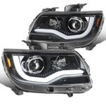 15-20 Chevy Colorado Projector Headlights LED DRL Tube - Pearl Black