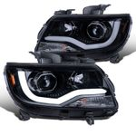 15-20 Chevy Colorado Projector Headlights LED DRL Tube - Smoked