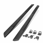 15-20 Ford F150-F350 Pickup Crew Cab 5-inch SS Black Side Nerf Bar Running Boards