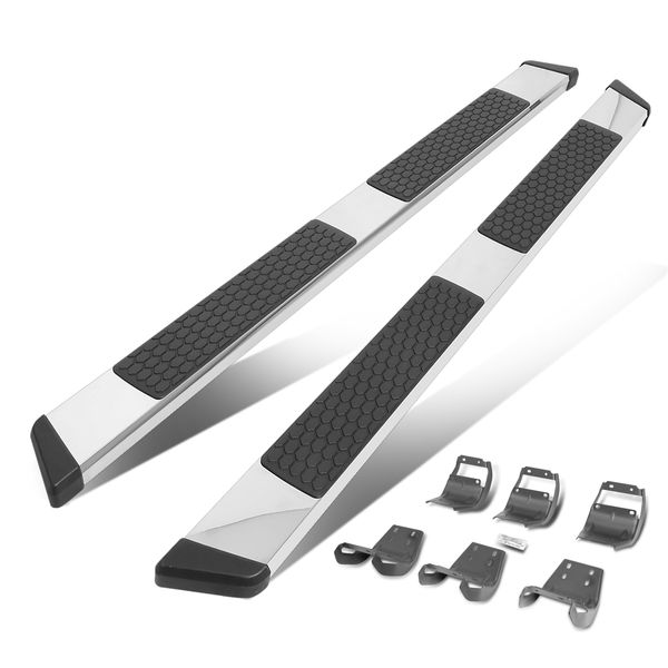15-20 Ford F150-F350 Pickup Crew Cab 5-inch SS Chrome Side Nerf Bar Running Boards