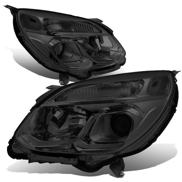 16-17 Chevy Equinox Factory-Style Projector Headlights - Smoked / Clear