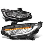 16-18 Honda Civic TR Style LED DRL / Sequential Signal Headlights