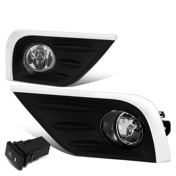 16-18 Nissan Altima 4-Dr Amber Lens OE-Style Front Fog Light w/ Chrome Trim - Clear