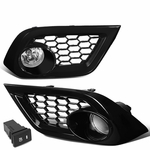 16-18 Toyota Scion Corolla iM Pair Clear Lens Fog Light Lamp w/Bezel+Switch