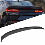 16-19 Chevy Camaro 3 Piece Blade Style Matte Black ABS Rear Trunk Spoiler