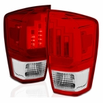 16-19 Toyota Tacoma LED Tail Lights - Red / Clear