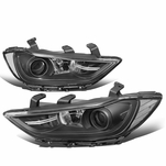 17-18 Hyundai Elantra OE-Style Replacement Projector Headlights - Black / Clear