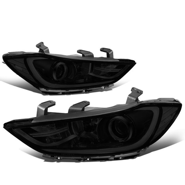 17-18 Hyundai Elantra OE-Style Replacement Projector Headlights - Smoked / Clear