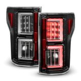 18-19 Ford F150 [Non-Factory LED & BLIS Model] Neon Tube LED Tail Lights - Black