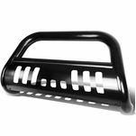 18-19 Jeep Wrangler Stainless Steel 3-inch Bull Bar Front Bumper Grill Guard Black