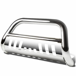 18-19 Jeep Wrangler Stainless Steel 3-inch Bull Bar Front Bumper Grill Guard Chrome