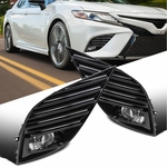 18-19 Toyota Camry SE / XSE OE-Style Front Bumper Fog Lights Clear
