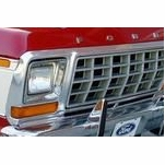1973-1979 Ford F150 LED DRL Tube Headlights Replacement