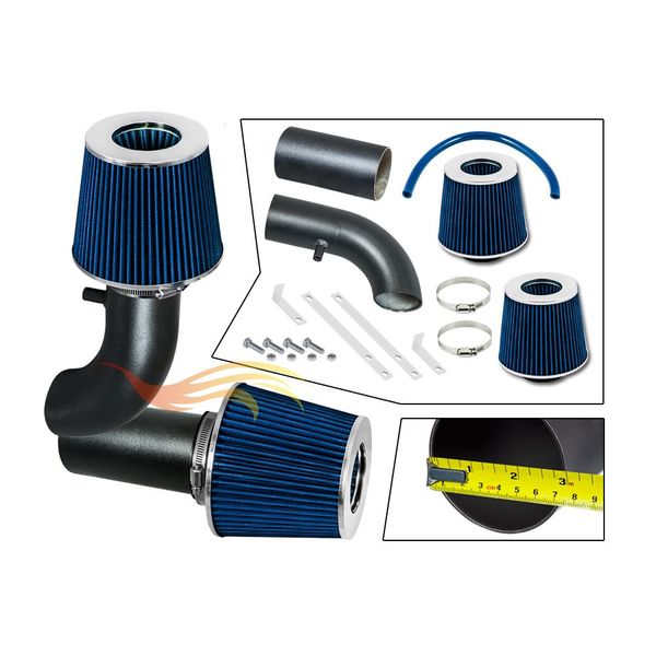 1988-1995 Ford F150 Short Ram Intake Black Pipe With Blue Kit