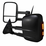 88-98 Chevy C/K 1500/2500/3500 [POWER] [LED Signal] Towing Side View Mirror - Pair
