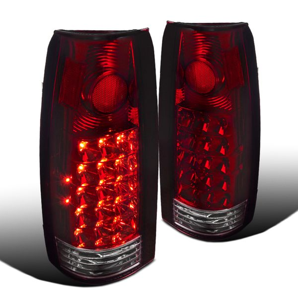 1988-1998 Chevy GMC C10 C/K Pickup LED Rear Tail Lights - Red