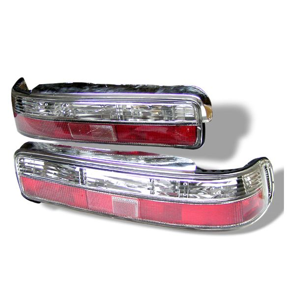 1990-1993 Acura Integra 2-Door Model Altezza Tail Lights - Red Clear