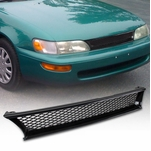 1993-1997 Toyota Corolla Black ABS JDM T-R Type Front Mesh Grill