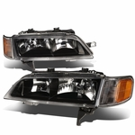 1994-1997 Honda Accord CD Gen5 Black Housing Headlights