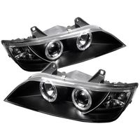 1996-2002 BMW Z3 Angel Eye Halo Projector Headlights - Black