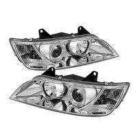 1996-2002 BMW Z3 Angel Eye Halo Projector Headlights - Chrome