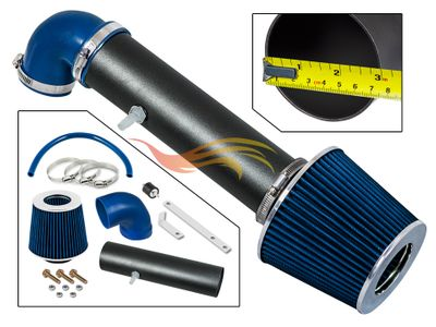 1997-2004 Jeep Cherokee Short Ram Intake Black Pipe With Blue Kit