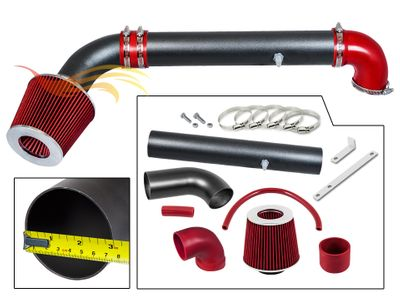 1997-2006 Jeep Wrangler Short Ram Intake Black Pipe With Red Kit