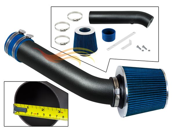 1998-2002 Chevy Cavalier Short Ram Intake Black Pipe With Blue Kit